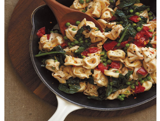 Vegetarian Recipe: Cheese Tortellini with Spinach, Peas, and Brown Butter