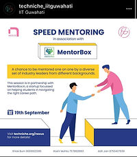 speed mentoring by mentorbox at iit guwahati's techno=management fest, techniche