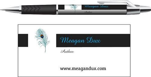 Custom 'Meagan Dux Author' pen.