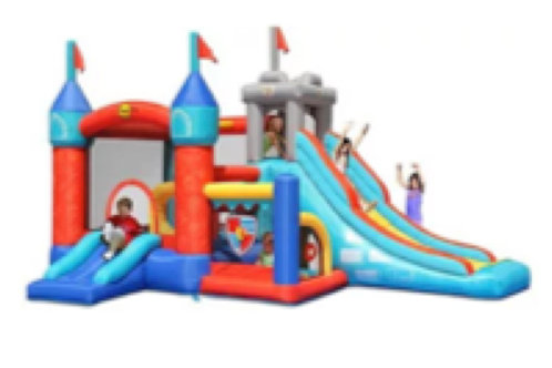 13 in 1 Knights Temple Bouncy Castle (L)