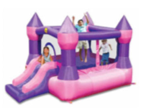 pink jumping castle with slide(S)
