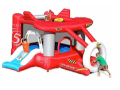 Skykids Airplane Jumping Castle with Ballpit (Small-Size)
