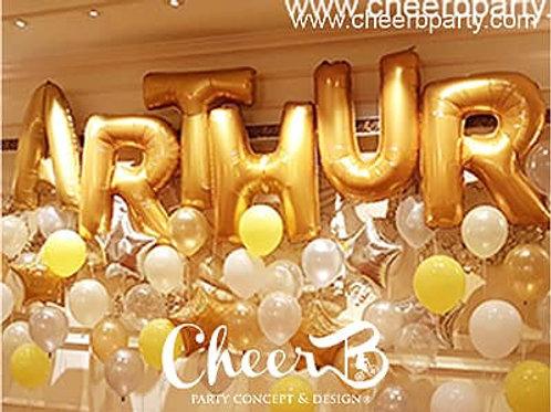 40寸字母/數字氦氣球