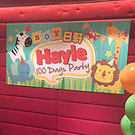 百日宴party海報背景backdrop佈置