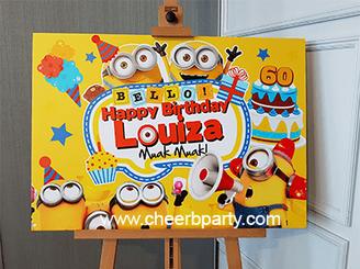 小黃人兒童生日派對佈置.png
