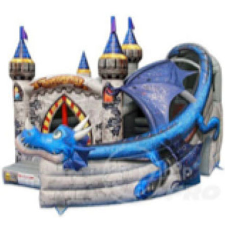 Dragon Age Jumping Castle with Slide(L)