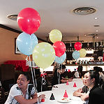 百日宴派對桌上氣球佈置