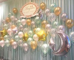百日宴氫氣球場地背景佈置-香港