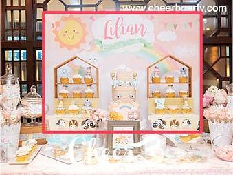 百日宴甜品桌佈置backdrop .JPG.jpg