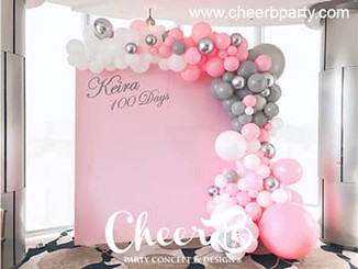 100 days party pink balloon backdrop.jpg