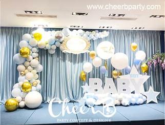 baby boy 100 days party balloon decorati