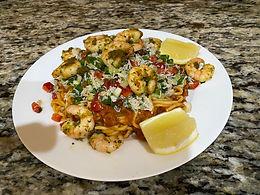 Creole Prawn Spaghetti