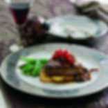 Beef Fillet with Wild Mushrooms and Armagnac Sauce