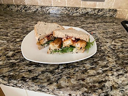 Fish Finger Butty with Lemon Mayonnaise