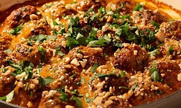 Pork Meatballs with Thai Curry Sauce