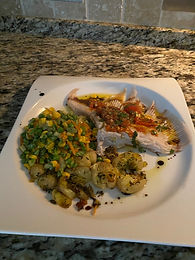 Poached Skate with Crash Hot Jersey Potatoes