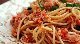 Crab Spaghetti with Tomato & Caper sauce