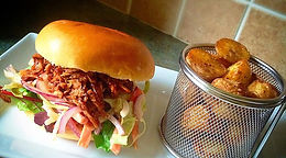 Pulled Pork with Spicy Coleslaw Burger
