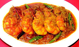 King Prawns in Coconut Curry Sauce