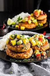 Prawn & Ginger Fishcakes with Salsa
