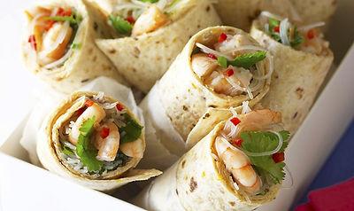 Avocado, Chorizo & Prawn Wraps