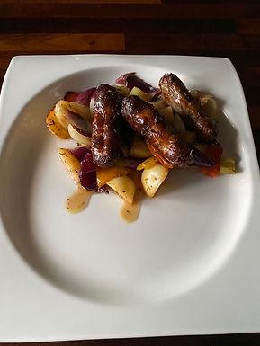 Sausage, Pepper, Onion, Celery and Potato Bake