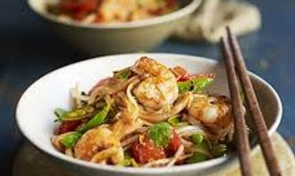Asian Prawn, Ginger and Spring Onion Sti