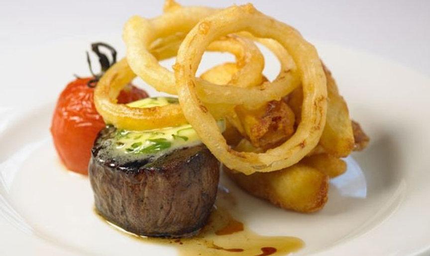 Steak with Tarragon Dressing