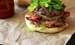 Beef & Peanut Burger