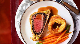 Beef Wellington with Red Wine Jus