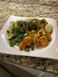 Spicy Fried Chicken with Apple Salad