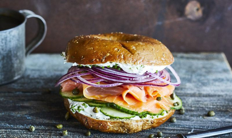 Salmon & Cream Cheese Bagel