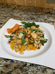 Seared Scallops with Cannellini Beans and Chorizo