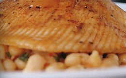 Roasted Skate Wings with Chilli Beans