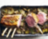 Rack of Lamb with Courgettes Provencal & Pommes Boulangere