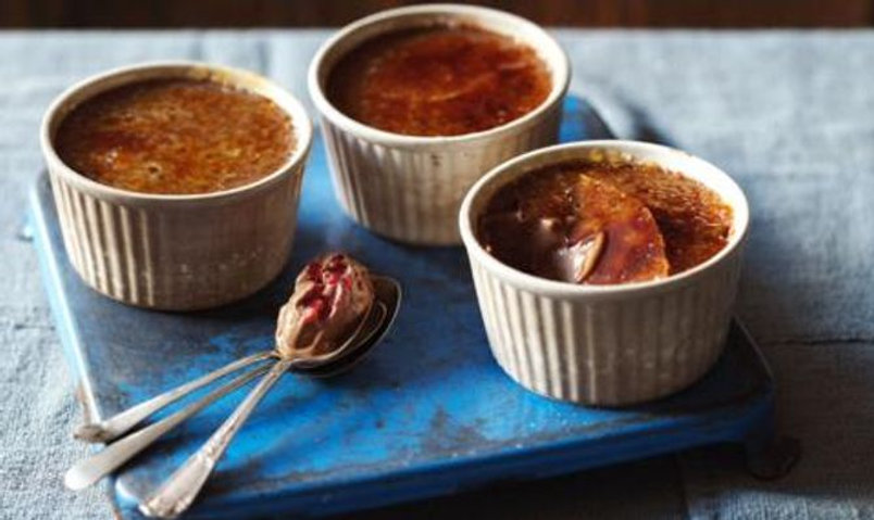 Chocolate & Raspberry Brulee