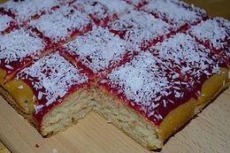 Jam & Coconut Cake