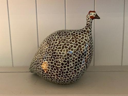 minted cocoa ceramic guinea fowl