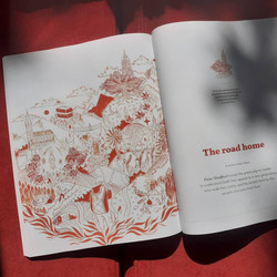 Illustration accompanying Peter Stanfords Article 'The road home' Oh mag 2021