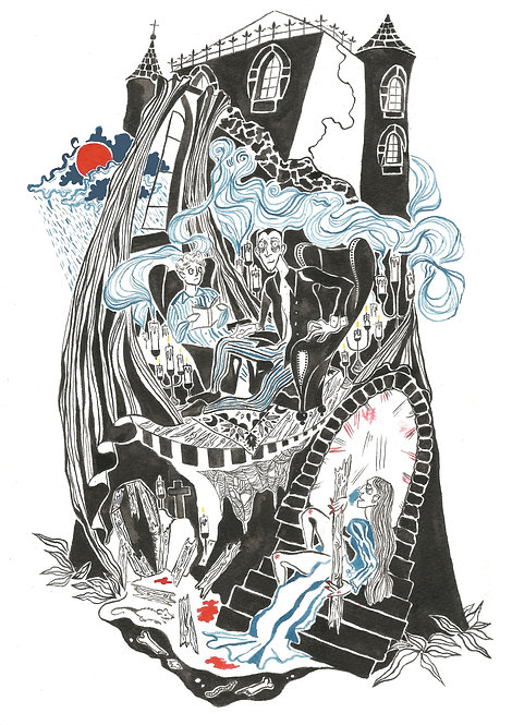 'Fall of The House of Usher' Print