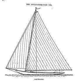 Anglo-Bermudan rig,  Folkard 1906
