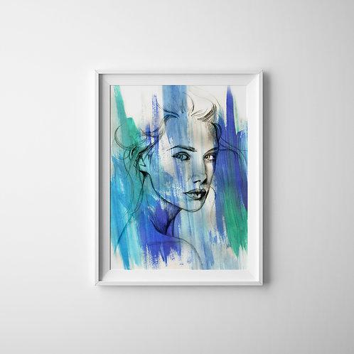 Aqua Stares - A4 Print