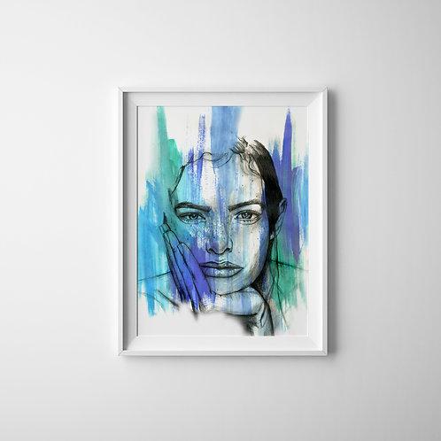 Eyes of Blue - A4 Print