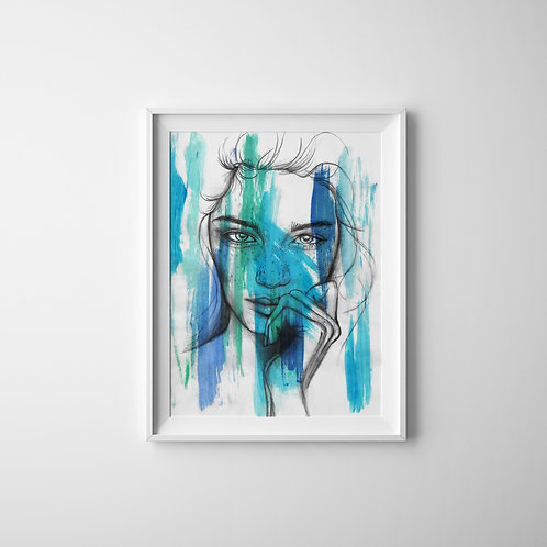 Ocean Thoughts - A4 Print