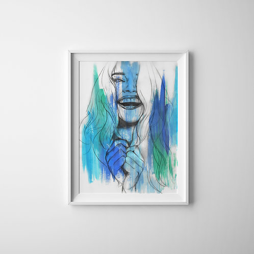 Bluebell Smiles - A4 Print