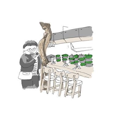 その7「曲がった古木の店はナンバさんデザイン!?」