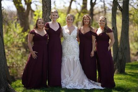 bride-bridal-party-trees