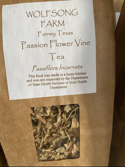 Passion flower vine tea
