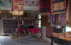 weaving in Tenganan village