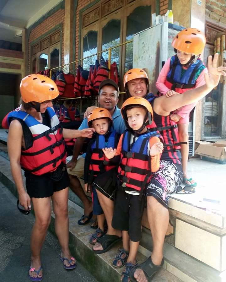 rafting on Ayung River